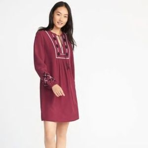 Old Navy Embroidered Swing Dress Sz XL NWT pv289